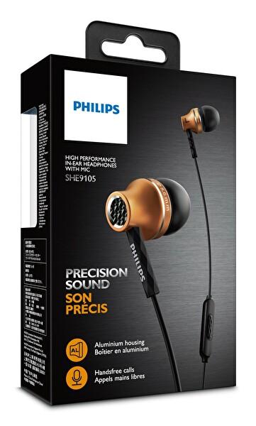Philips She9105Bs/00 Mikrofonlu Kulakiçi Kulaklık Gold