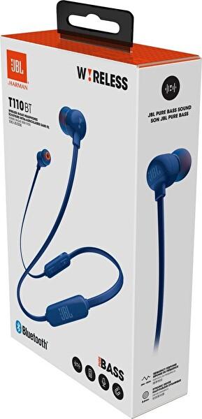 Jbl T110BT Bluetooth Ct Mavi Kulak İçi Kulaklık