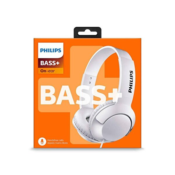 Philips Shl3075Wt/00 Bass+ Kafabantlı Mikrofonlu Kulaklık Beyaz