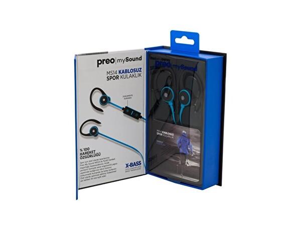 Preo My Sound MS14 Kulak İçi Kablosuz Spor Kulaklık Mavi