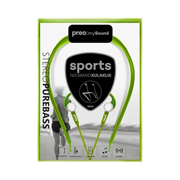 Preo My Sound MS16 Bt Kulak İçi Kulaklık Yeşil