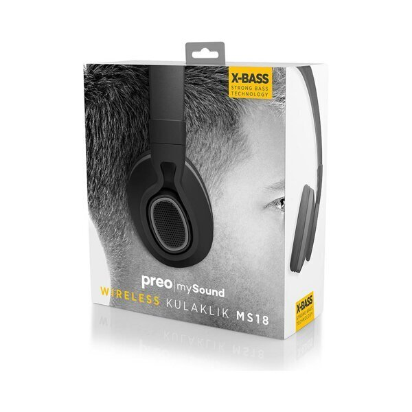 Preo My Sound Ms18 Kulak Üstü Kablosuz Bluetooth Kulaklık Siyah