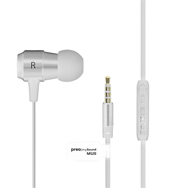 Preo My Sound MS20 Kulak içi Kulaklık Beyaz