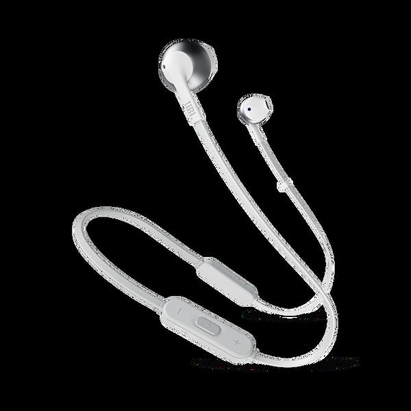 Jbl T205BT Kulak İçi Mikrofonlu Kablosuz Kulaklık Gümüş