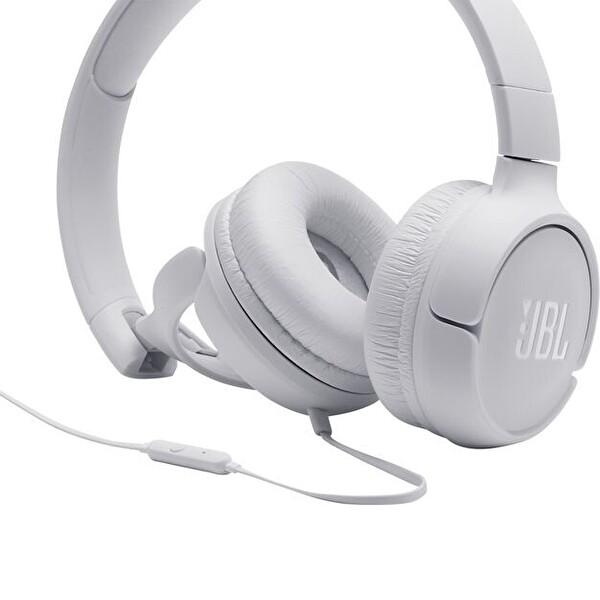Jbl T500 Kulak Üstü Mikrofonlu Kulaklık Beyaz
