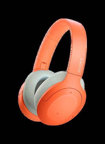 Sony WHH910N Kulak Üstü Mikrofonlu Ses Engelleme Özellikli Kablosuz Kulaklık Turuncu