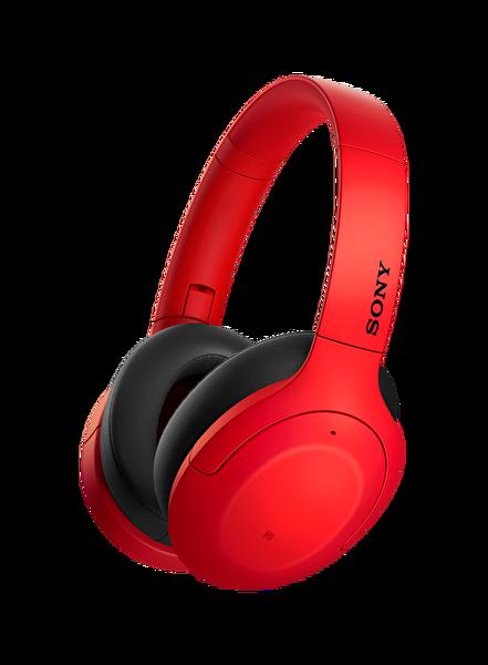 Sony WHH910N Kulak Üstü Mikrofonlu Ses Engelleme Özellikli Kablosuz Kulaklık Kırmızı