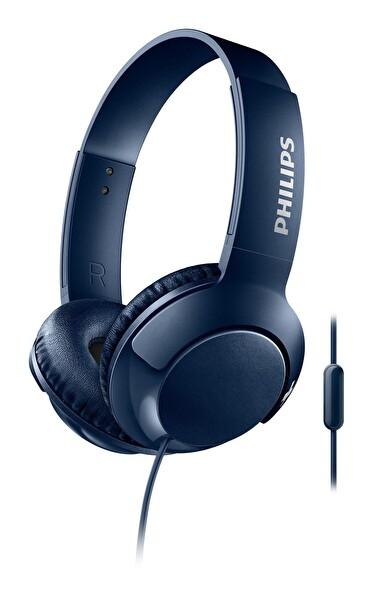 Philips Shl3075Bl Mikrofonlu Kablolu Kulak Üstü Kulaklık Mavi ( OUTLET )