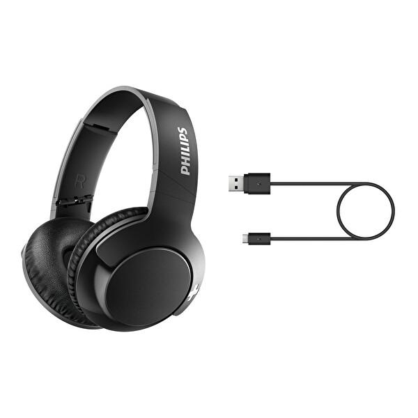 Philips SHB3175BK Kulak Üstü Mikrofonlu Kablosuz Kulaklık Siyah