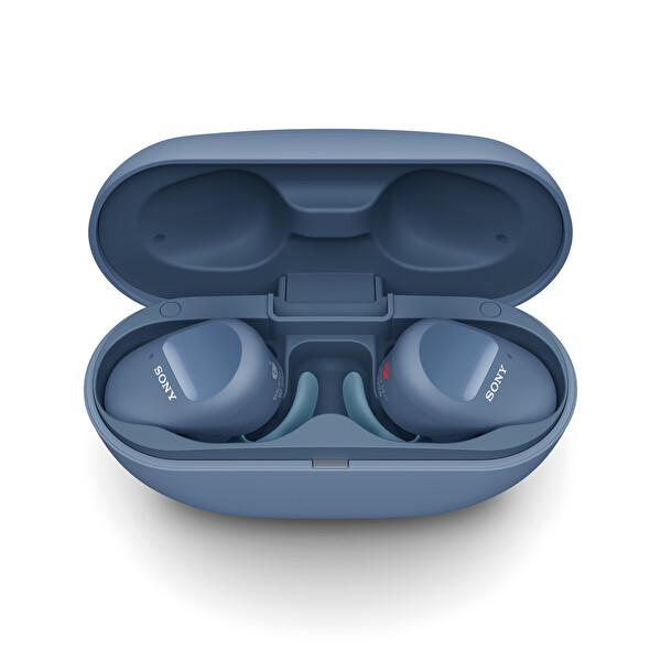 Sony WF-SP800N Gürültü Engelleme Özellikli IP55 Tamamen Kablosuz Spor Kulaklık Mavi