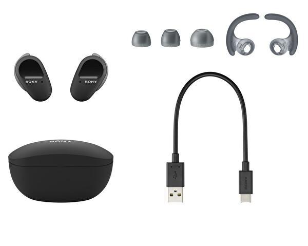 Sony WF-SP800N Gürültü Engelleme Özellikli IP55 Tamamen Kablosuz Spor Kulaklık Beyaz