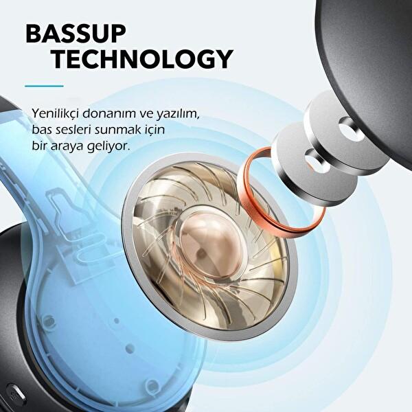 Anker SoundCore Life 2 Neo A3033 Hi-Res 60 Saat Çalma Süresi Kulak Üstü Bluetooth Kulaklık Siyah