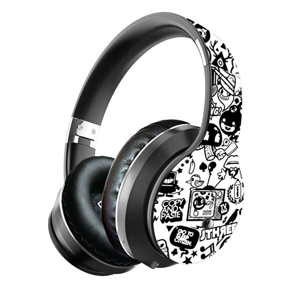 Preo My Sound Ms55 Kablosuz Kulak Üstü Kulaklık Beyaz Grafiti