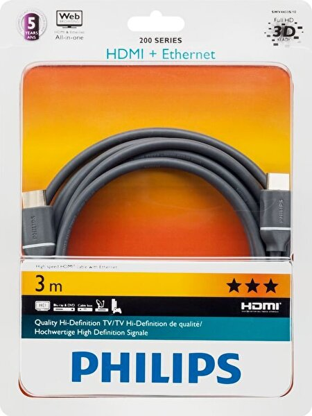 Philips Swv4433H/S Gold HDMI 3M Kablo
