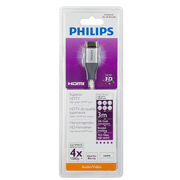 Philips Swv4433H/S Gold HDMI 3M Kablo