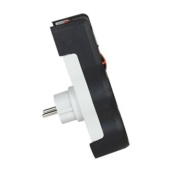 Tuncmatık Tsk5081 Powersurge 2-Surge Protectıon Plug-525 Joule-Siyah