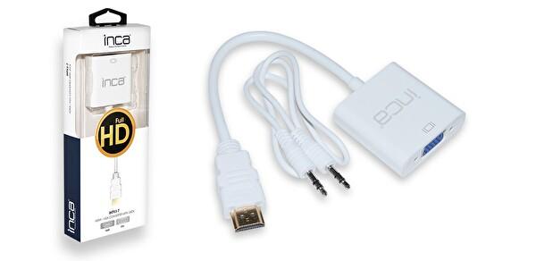 Inca Ihtvj-7 HDMI To Vga Jaklı Çevirici Ses Kablosu Dahil