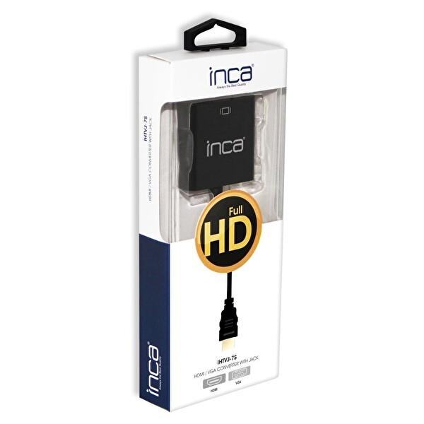 Inca IHTVJ-7S HDMI Vga Jaklı Siyah Ses Kablosu