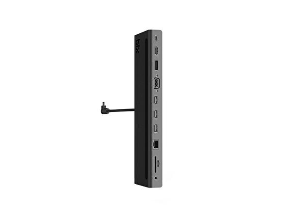 Daytona Bix BX12HB Type C to 2xUSB3.0 Gigabit Ethernet USB2.0 VGA HDMI 4K Ultra Hd Display PD Şarj Çevirici