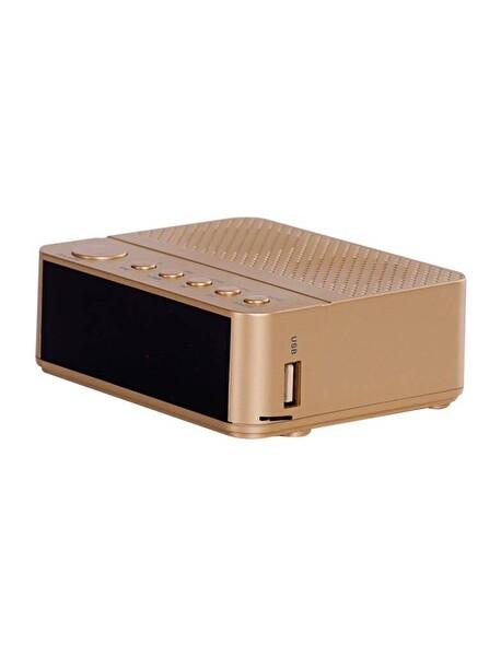 Goldmaster Waker Bluetooth Radyolu Alarm Saat (Sd Kart ) - Gold