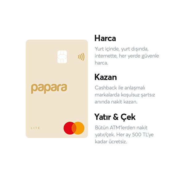 Papara Ön Ödemeli Sarı Lite Kart