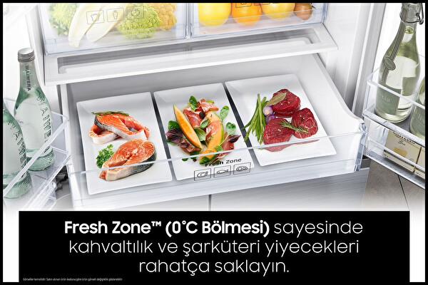 Samsung RT50K6000S8 A+ Enerji Sınıfı 513 Lt Inox No Frost Buzdolabı