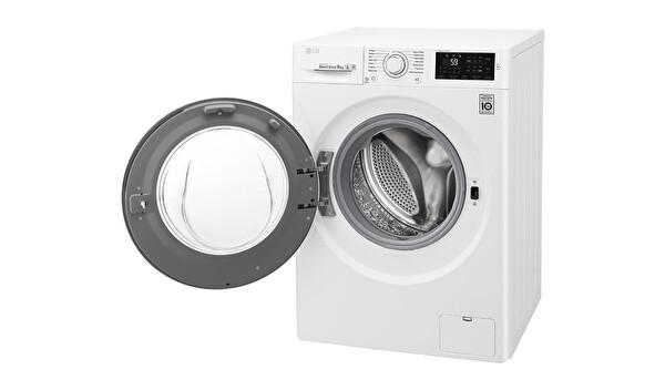 LG F2J5TNP3W A+++ 8 Kg 1200 Devir Beyaz Çamaşır Makinesi