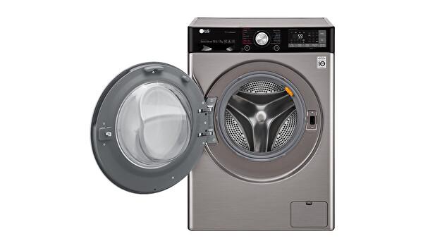 LG F4J9JHP2T 10,5 Kg Yıkama 7 Kg Kurutma 1400 Devir Gri Çamaşır Makinesi