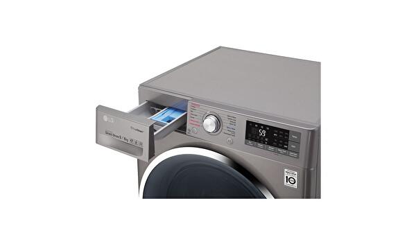 LG F4J8FHP2S 9 Kg Yıkama 6 Kg Kurutma 1400 Devir Gri Çamaşır Makinesi