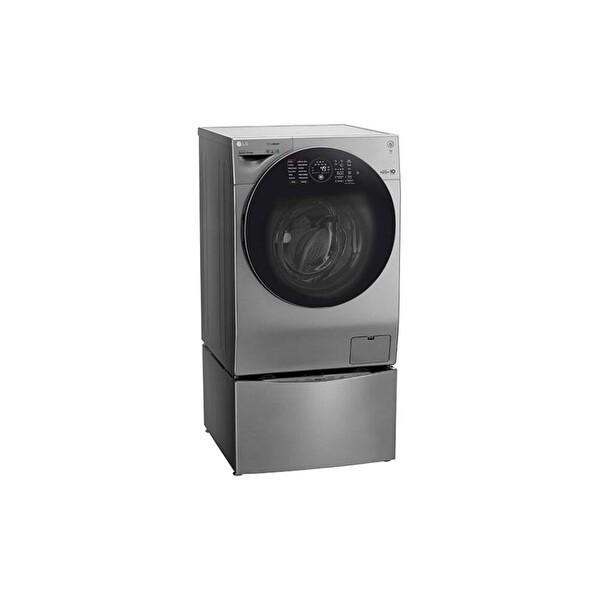 LG FH6G1BCHK6N A 12 Kg Yıkama 8 Kg Kurutma 1600 Devir Twinwash Gri Çamaşır Makinesi