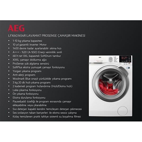 AEG LFX6G1454R A+++ 10 Kg 1400 Devir Çamaşır Makinesi