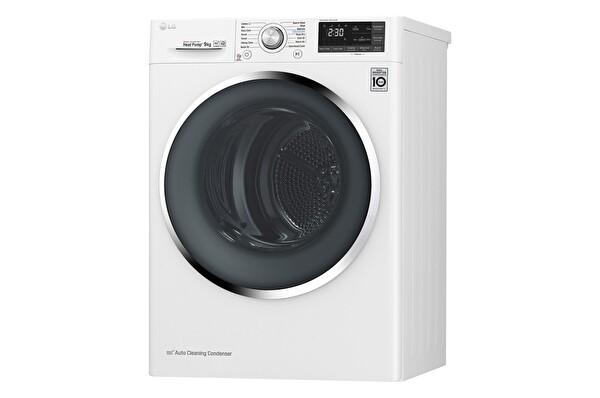 LG RC90U2AV2W.ABWPLTK 9kg A+++(-%10) Kurutma Makinesi Beyaz