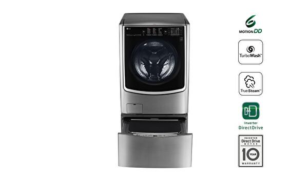 LG TWDTT1710V.ASSPLTK TwinWash Aynı Anda 2 Farklı Yıkama 20,5Kg Yıkama 10Kg KurutmaÇamaşır Makinesi