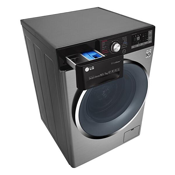 LG F4J9VHP2TD 9 Kg Yıkama 5 Kg Kurutma Twinwash Gri Kurutmalı Çamaşır Makinesi