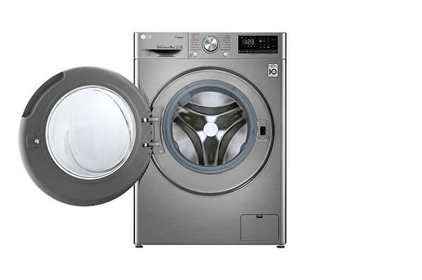 LG F4R5VYW2T.ASSPLTK A+++ -%30 9 Kg Metalik Çamaşır Makinesi
