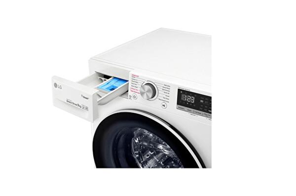 Lg F4r5vyw0w 9 KG 1400 Devir Buharlı Çamaşır Makinesi Beyaz