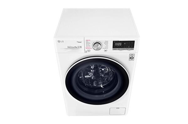 LG F4R5VYW0W.ABWPLTK A+++ -%30 9 Kg Yıkama Beyaz Çamaşır Makinesi