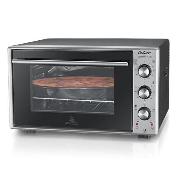 Arzum AR2002 Cookart Maxi 50lt Çift Camlı Fırın