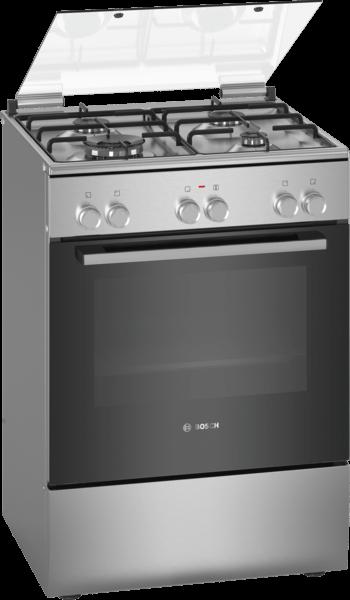 Bosch HXA080H59T 4 Gözlü 6 Programlı Doğalgaz Çıkışlı Multifonksiyonel Inox Fırın