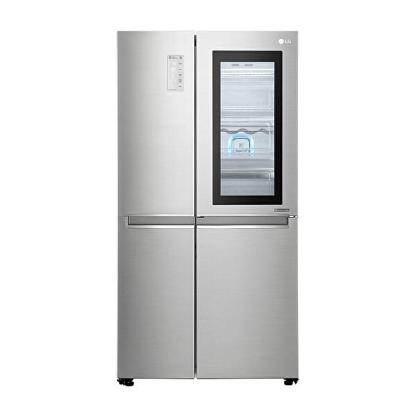LG GC-Q247CSBV 687 LT InstaView Gardırop Buzdolabı Metalik Gri