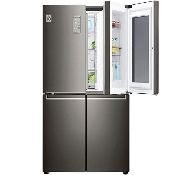 LG GR-Q31FMKHL 877 LT InstaView 4 Kapılı Gardırop Gardırop Buzdolabı Metalik