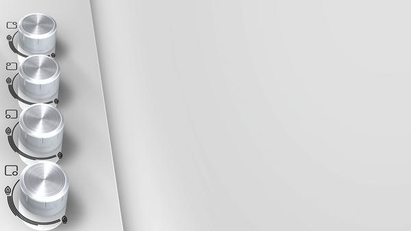 Bosch POP6C2B11O 60 Cm 4 Gözlü Çelik Tekli Izgara Doğalgazlı Cam Beyaz Ankastre Ocak