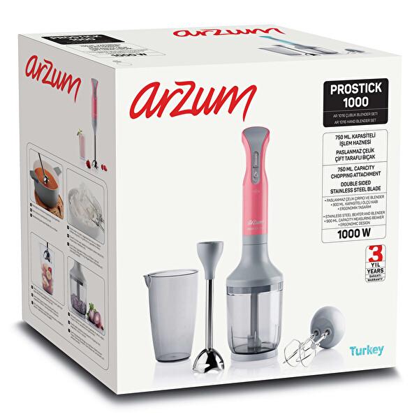 Arzum AR1016 Prostick El Blender Seti 1000W (Mercan)