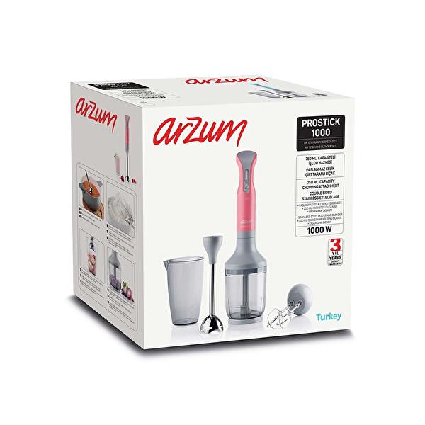Arzum AR1016 Prostick 1000W Mercan Blender Seti