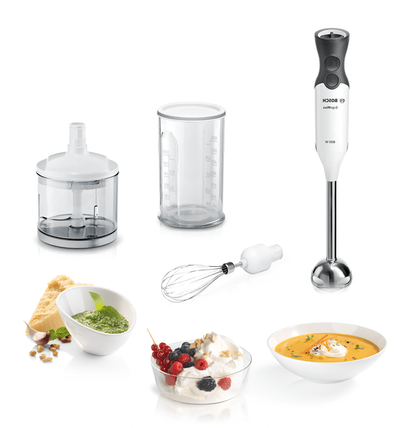 Bosch MS6CA4150 800 W Mini Doğrayıcı/Çırpıcı Beyaz/Antrasit El Blender Seti