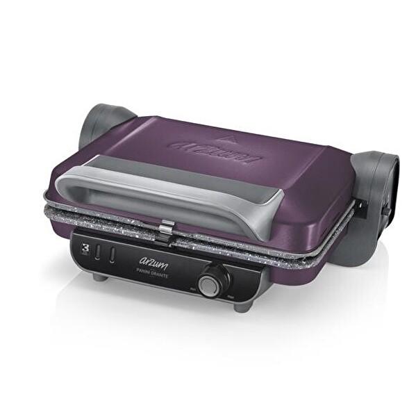 Arzum AR2021 Panini Granite Izgara ve Tost Makinesi (Mürdüm)