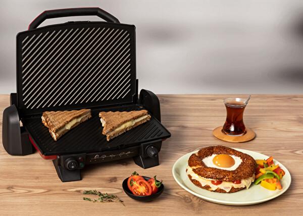 Tefal GC191541 Toast Expert 1800 Watt Kırmızı Izgara ve Tost Makinesi