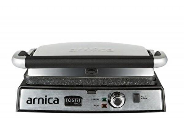 Arnica Tostit Maxi Granit Izgaralı Inox Tost Makinesi