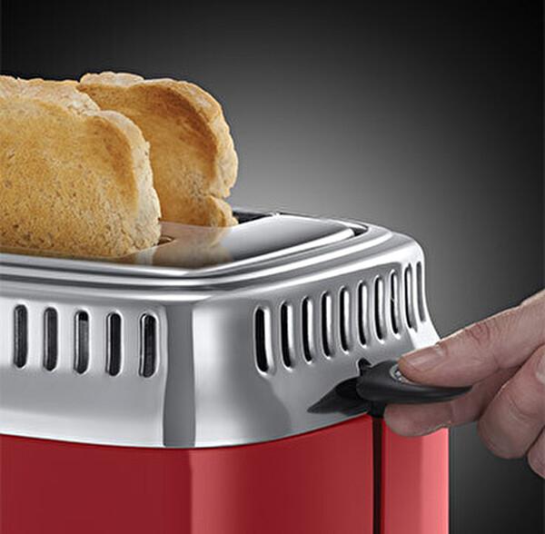 Russell Hobbs 21680-56 Retro 2 Dilimli Ekmek Kızartma Makinesi - Kırmızı