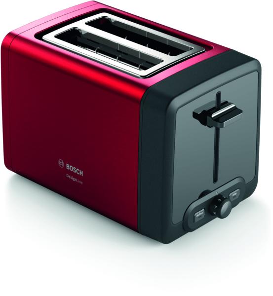 Bosch TAT4P424 DesignLine Ekmek Kızartma Makinesi Kırmızı
